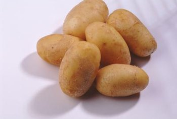 Each seed piece may produce up to eight potatoes.