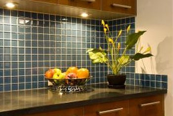 A kitchen backsplash updates a kitchen and gives it a finished look..