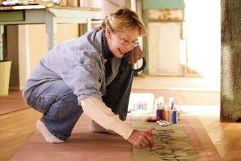 Artistically painted floors need protection.