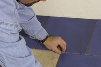 Tile installation benefits from a scribe technique creating partial tiles.