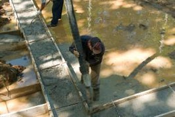 Concrete footings should be insulated to trap heat when installed in cold weather.