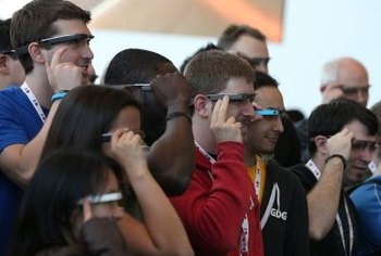Google Glass provides real-time information about the physical world.
