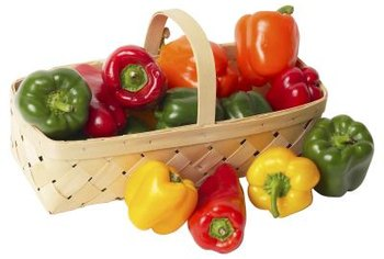 Bell peppers can add color to gardens and dishes.