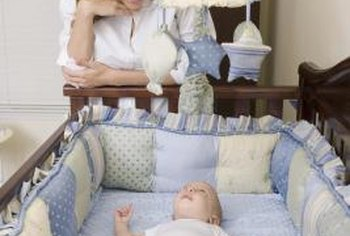 Use a soft, cotton twin sheet to make two crib sheets.