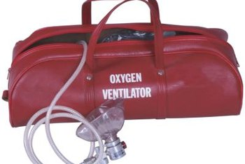 A ventilator helps patients in respiratory distress breathe again.