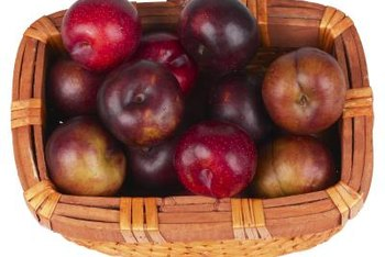 """Empire"" apple color is generally dark red with a green background."