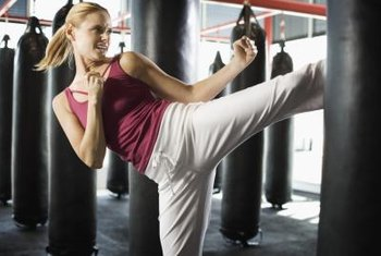 Kickboxing workouts help you to lose fat gained during pregnancy.