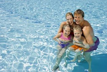 A solar pool cover will keep water warm and prevent water from evaporating.