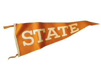 Decorate with sports pennants.