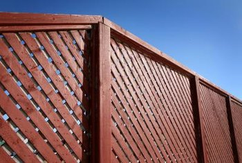 Lattice style fences provide privacy while maintaining some air circulation.