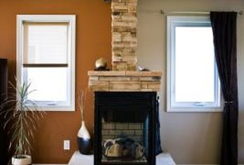 Decorate the fireplace, its surrounding and its parts with nonflammable, up-to-code materials.