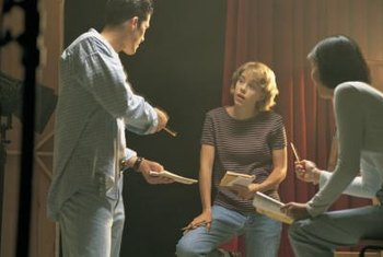 Theater directors interpret play scripts for live performances.