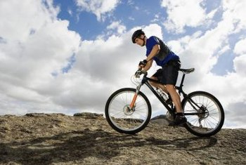 Cycling regularly helps build lung function.