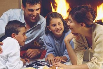 Board games let families practice reading skills together.