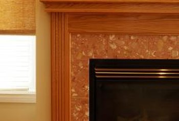 A cover gives a fireplace a decorative look.