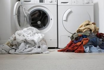 Sort laundry by color to keep colors from bleeding onto your whites.