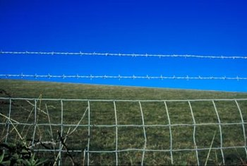 Electric fences provide a barrier around gardens and yards.