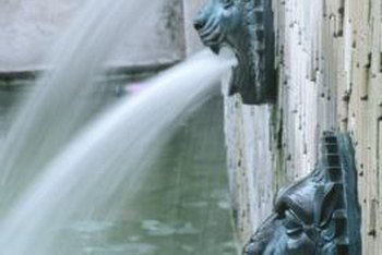 A gushing wall fountain goes a long way to filter out other sounds.