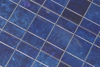 Photovoltaic cells convert sunlight into electrical energy.