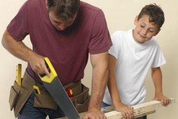 Portable sawhorses make it easier to cut light wood for home-improvement projects.