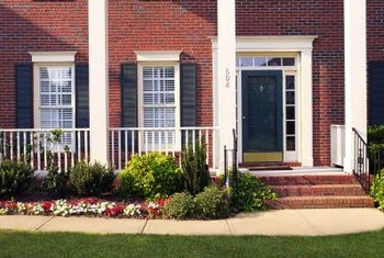 Cover sidelight windows to increase the privacy of your home.