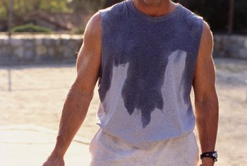 Playing sports outside can cause extra sweating, but it's not necessarily a problem.