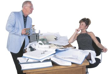 Accounting clerks often manage paper records.