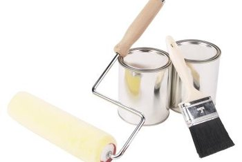 Add a damp rag to your paint supplies to wipe drips and splatters of paint.