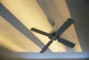 Ceiling fans reduce a room's perceived temperature, not its actual temperature.