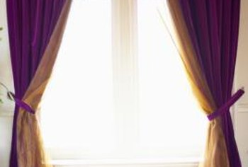 Handmade curtains customize the look of your home.