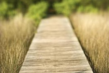 A boardwalk walkway path is right at home in coastal landscapes.