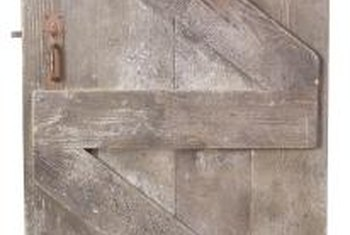 Ledge and brace doors are rustic.