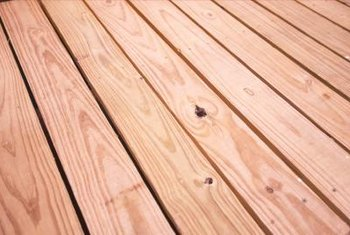 Clean the deck thoroughly to remove tannin stains.