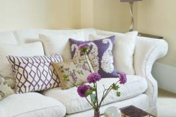 Regular maintenance, airing and vacuuming, keeps feather cushions clean.
