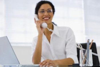 A receptionist answering your office's incoming calls gives your business a more human touch than an automated system.