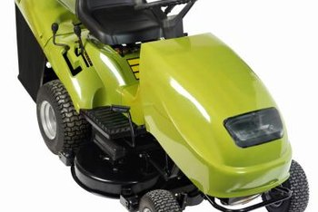 Riding lawn mowers use cotter pins to hold the front wheels in place.