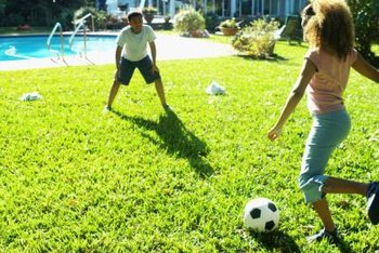 Clearing the lawn of gumballs gives the kids a more enjoyable lawn to play on.
