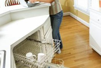 Traditional dishwashers can block walkways in the kitchen when opened.