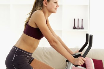 Good form on an indoor bike will tone several muscles.