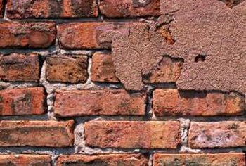 Cracked brick can be repaired with care and patience.