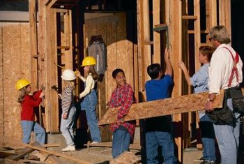 A group house-building day is an example of a nonprofit event.
