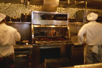 "Line cooks are usually responsible for a specific ""station"" during service."