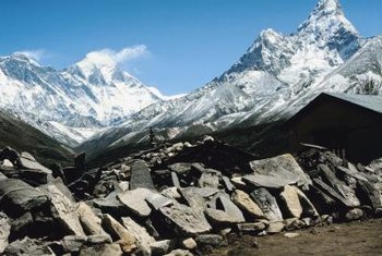 The collision of tectonic plates produced the Himalayas.