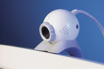 A webcam enables you to make video calls over the Internet.