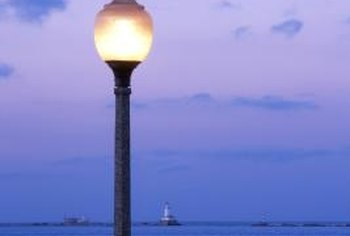 Outdoor light fixtures without reflectors are not the most efficient lighting options.
