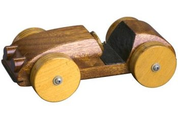 Toy cars can be made by woodworkers as gifts for kids.