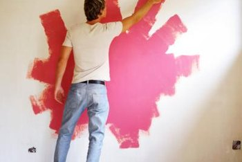 Toning down a bright coral wall doesn't necessarily mean you have to repaint.