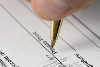 Some government proposals require your signature on pricing documents.