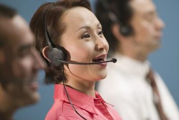 Customer service reps often work evenings and weekends.