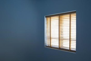 Large windows sometimes require two sets of blinds.